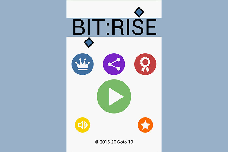 Bit:Rise Title-screen Screenshot