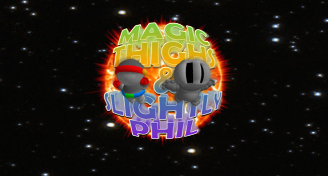 Magic Thighs & Slightly Phil Title-screen Screenshot